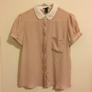 F21 Peter Pan Collared Top
